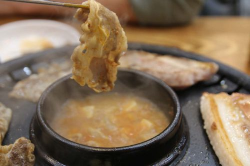 Thin meat soup